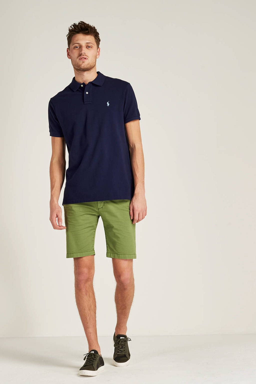 POLO Ralph Lauren slim fit polo, Donkerblauw/blauw
