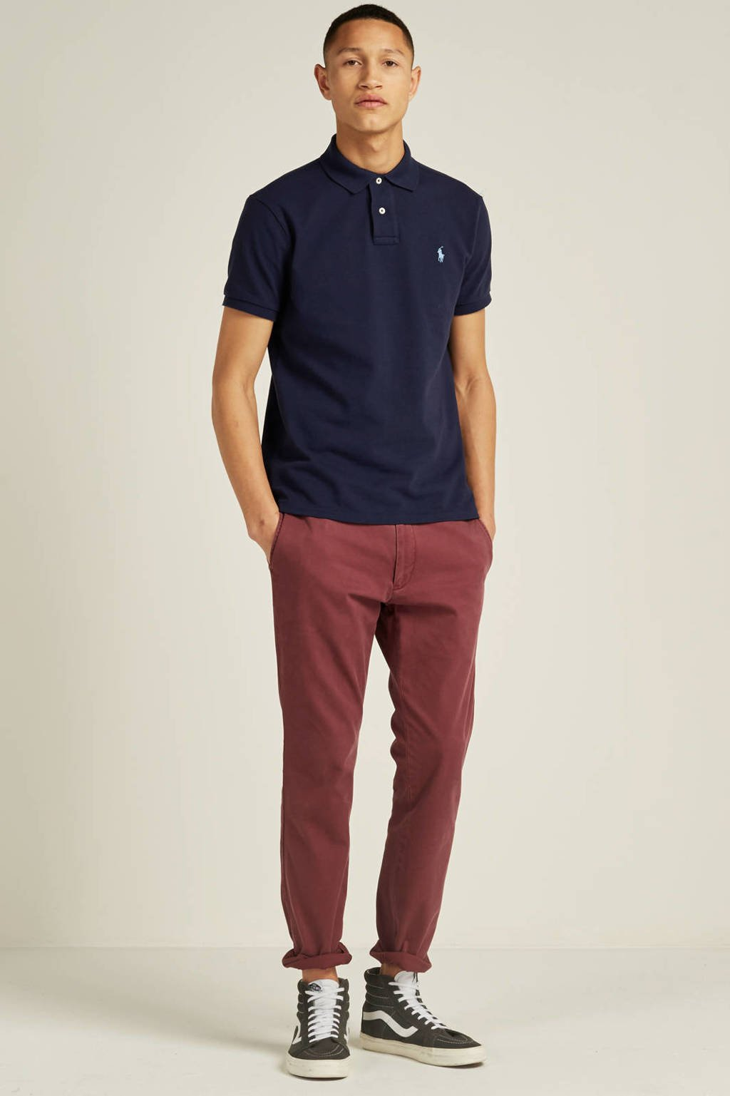 POLO Ralph Lauren custom slim fit polo, Donkerblauw/blauw