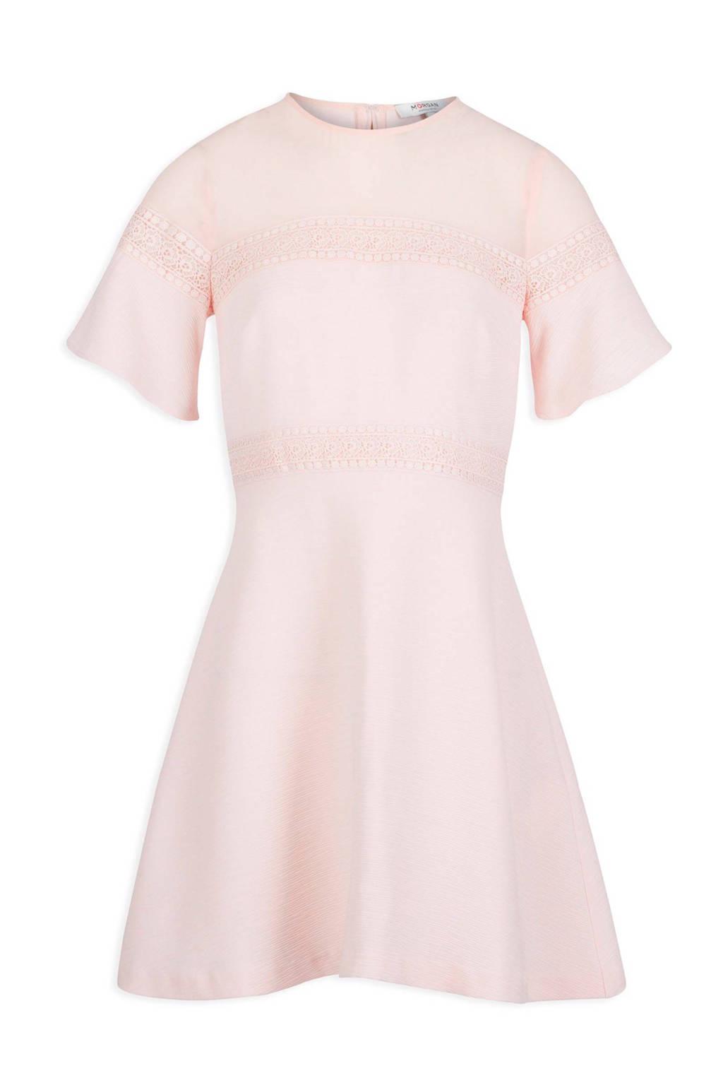 Morgan jurk met kant, Oudroze