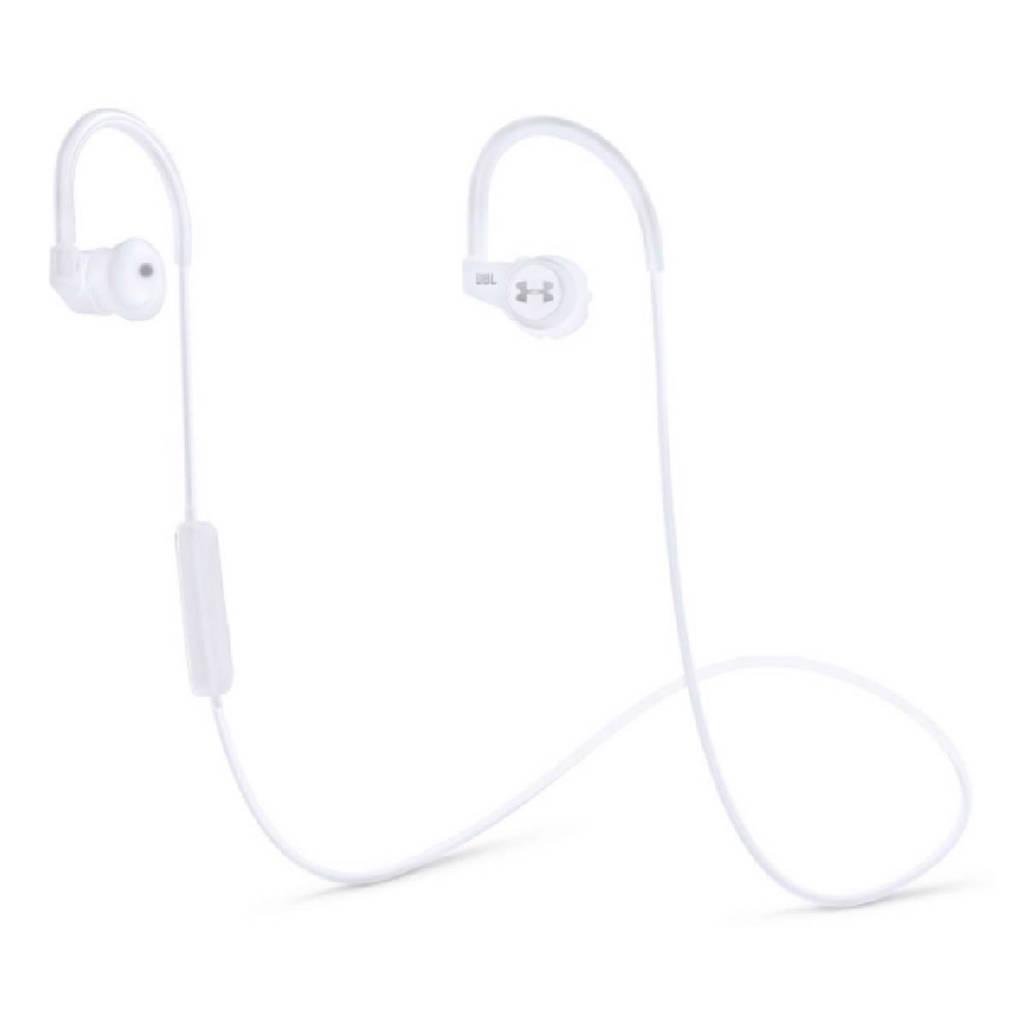JBL Under Armour in ear bluetooth koptelefoon met heart rate monitor wit, Wit