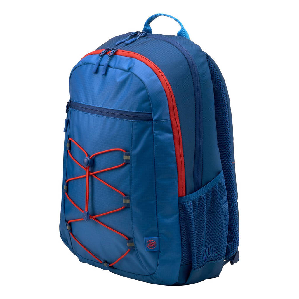 77ff96ff348 HP Active 15,6 inch laptoptas rugzak, Blauw/rood