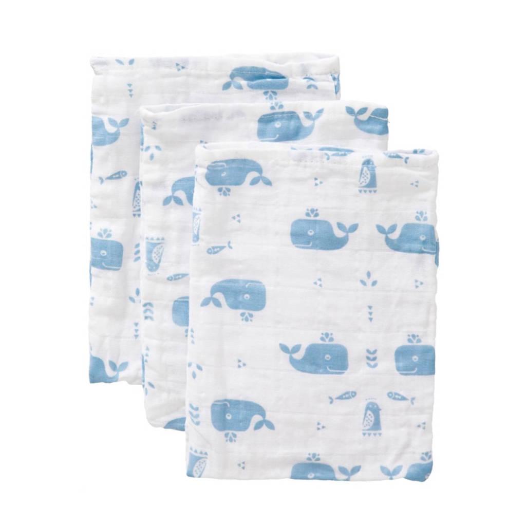 Fresk Whale washandjes blue fog (3 stuks), Blue Fog