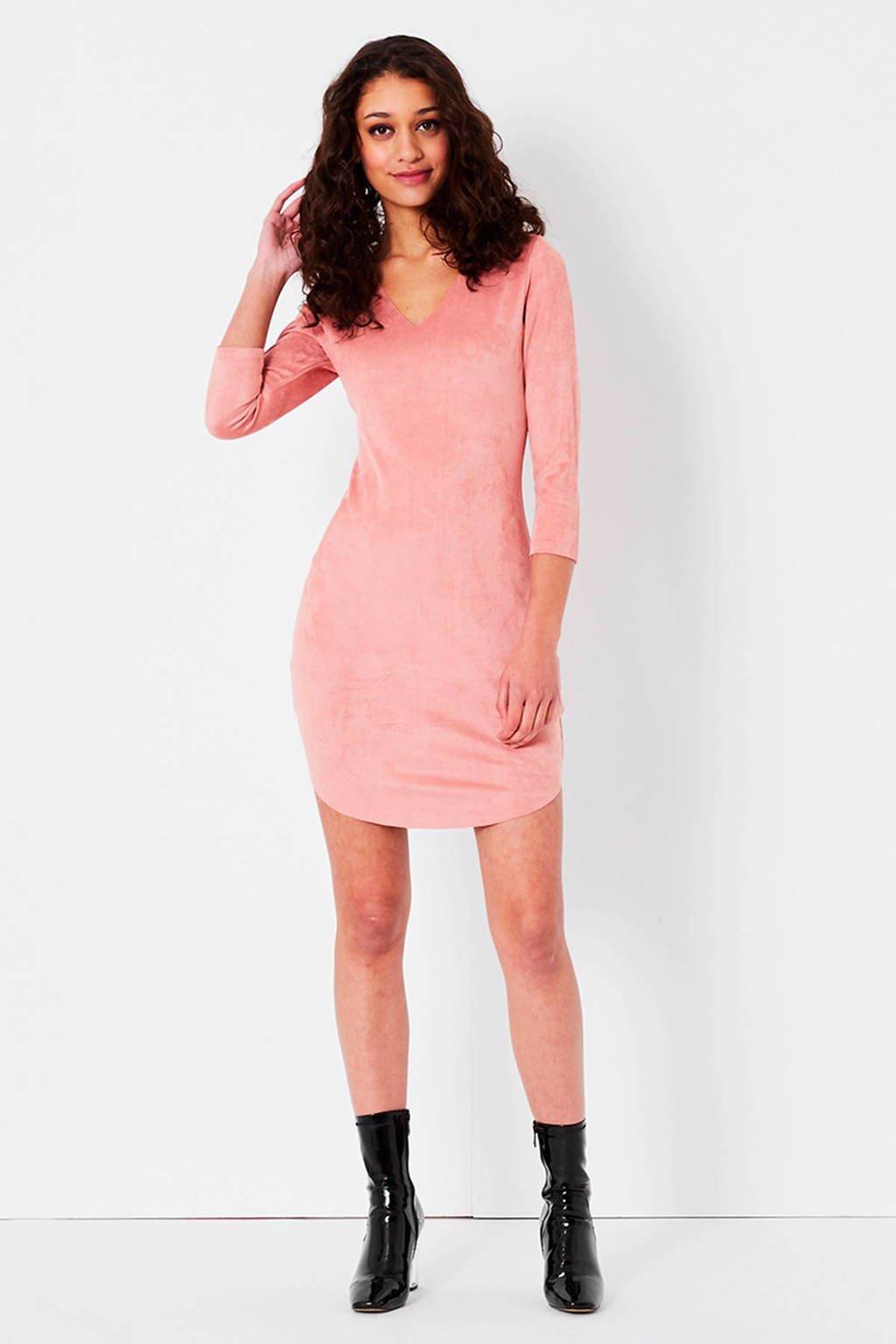 Hedendaags CoolCat suèdine jurk lichtroze | wehkamp GT-65