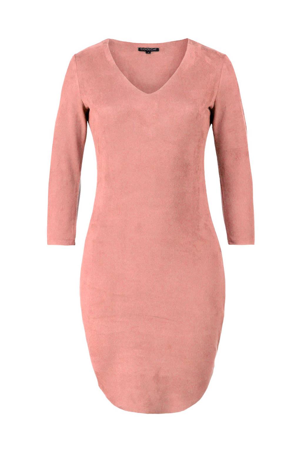 Super CoolCat suèdine jurk lichtroze | wehkamp MS-39
