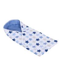 Little Dutch wikkeldoek mixed stars blue, Mixed stars blue
