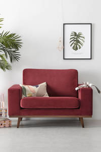 wehkamp home loveseat Torino velours, Bordeaux (velours)