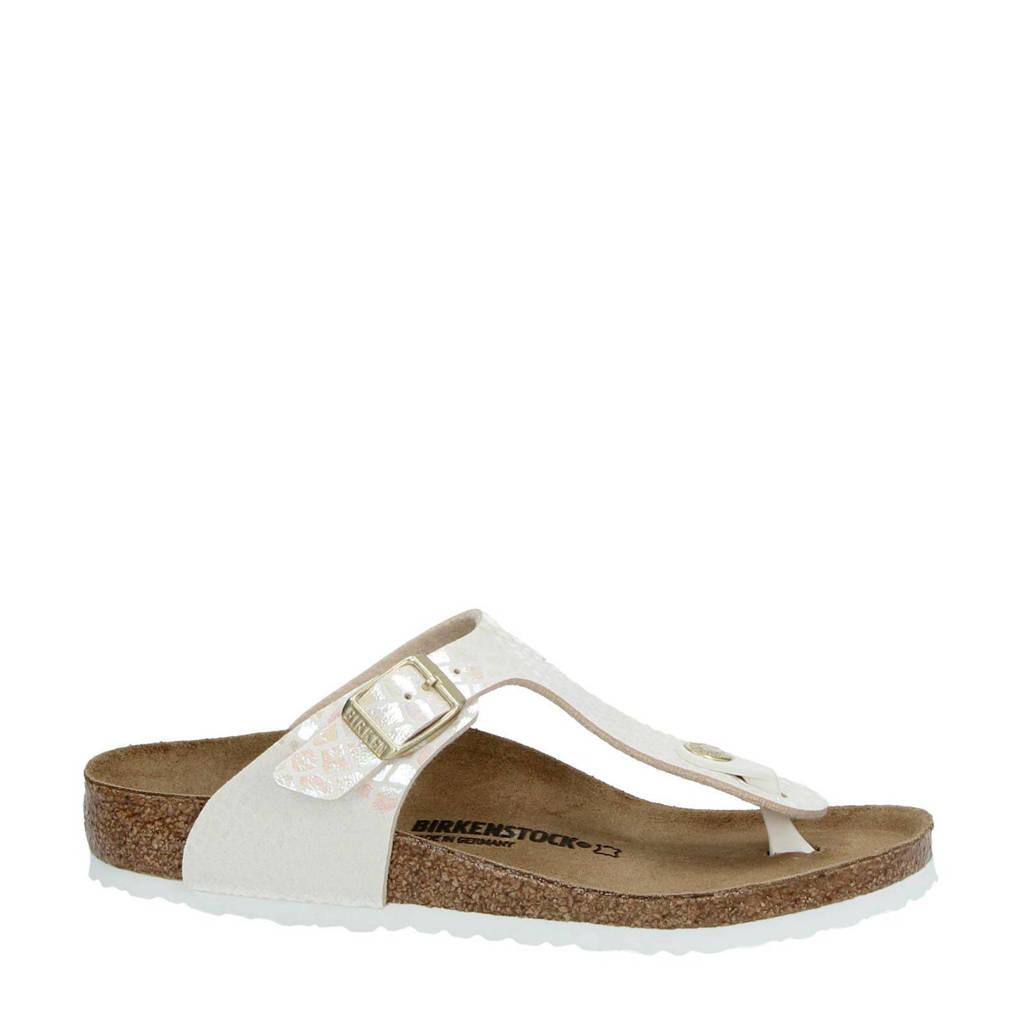 Birkenstock   Gizeh Shiny slippers, Ecru
