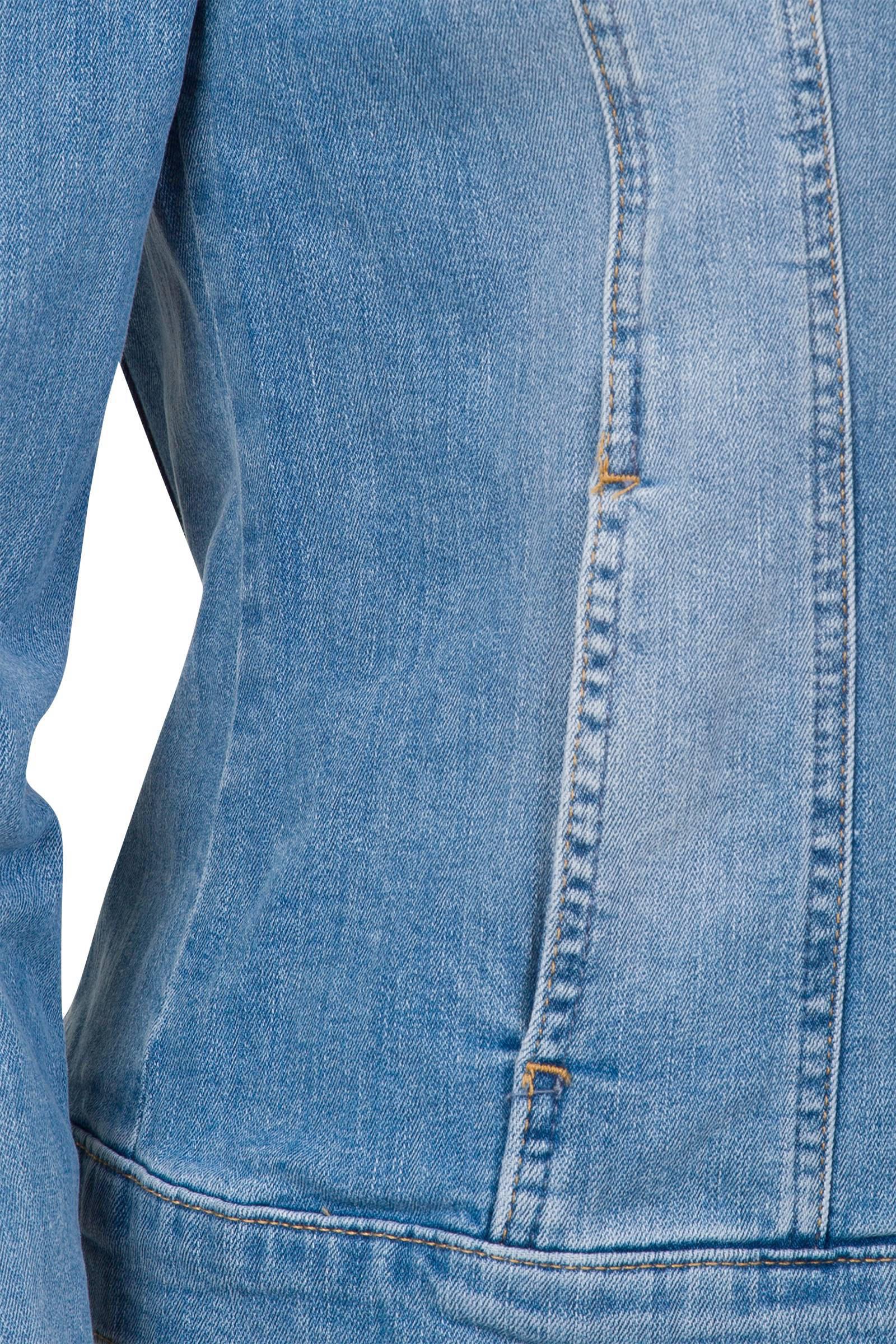 Miss Etam Regulier spijkerjasje lichtblauw | wehkamp