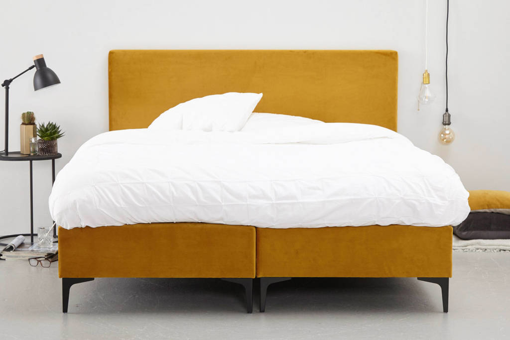 whkmp's own complete boxspring Elin (140x200 cm), Okergeel