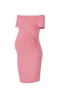 Marilyn positie off shoulder jurk met strepen