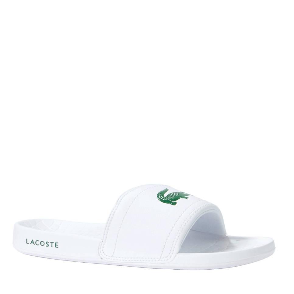 Lacoste slippers Frasier, Wit/groen