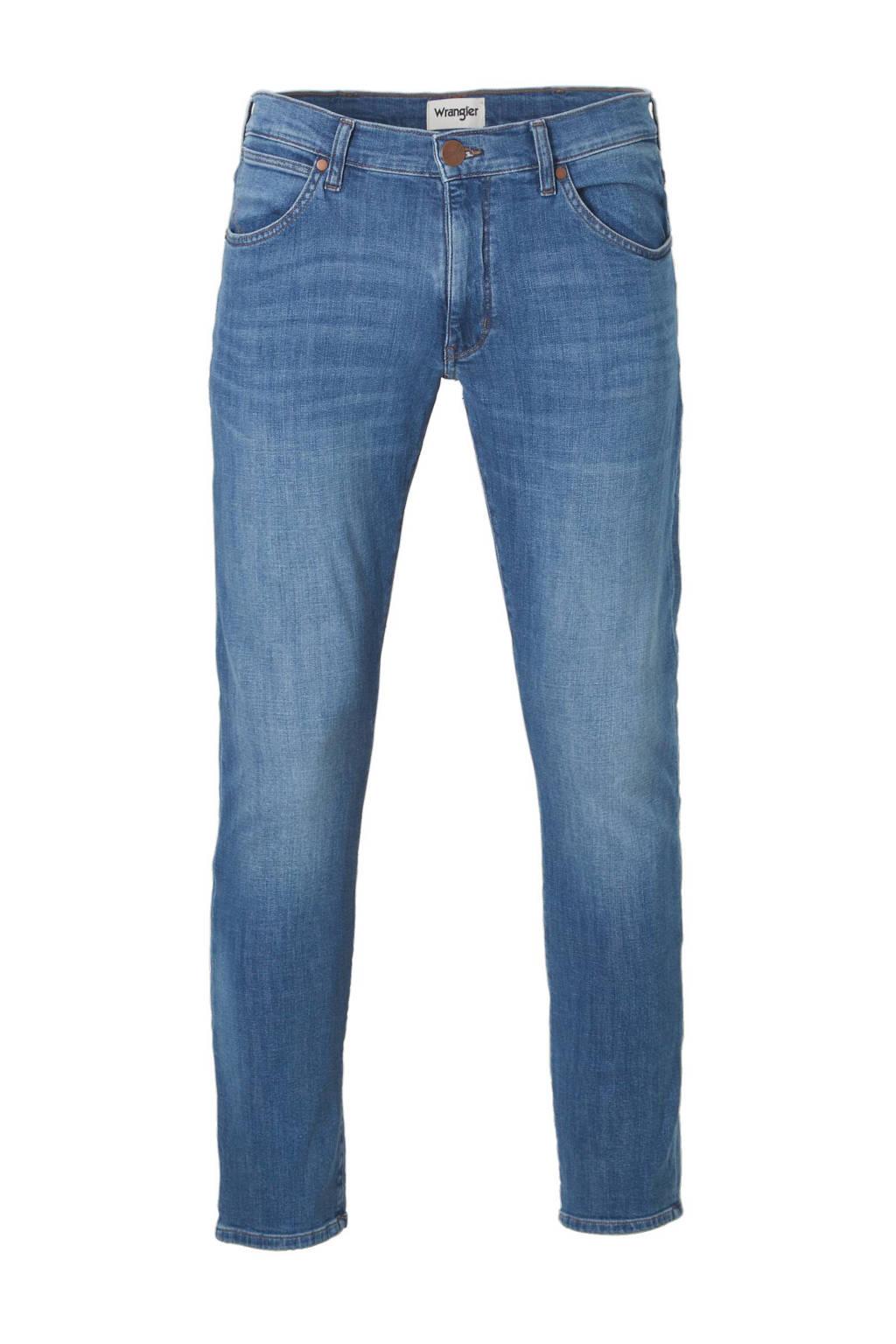 Wrangler Larston slim tapered fit jeans, Light Shore