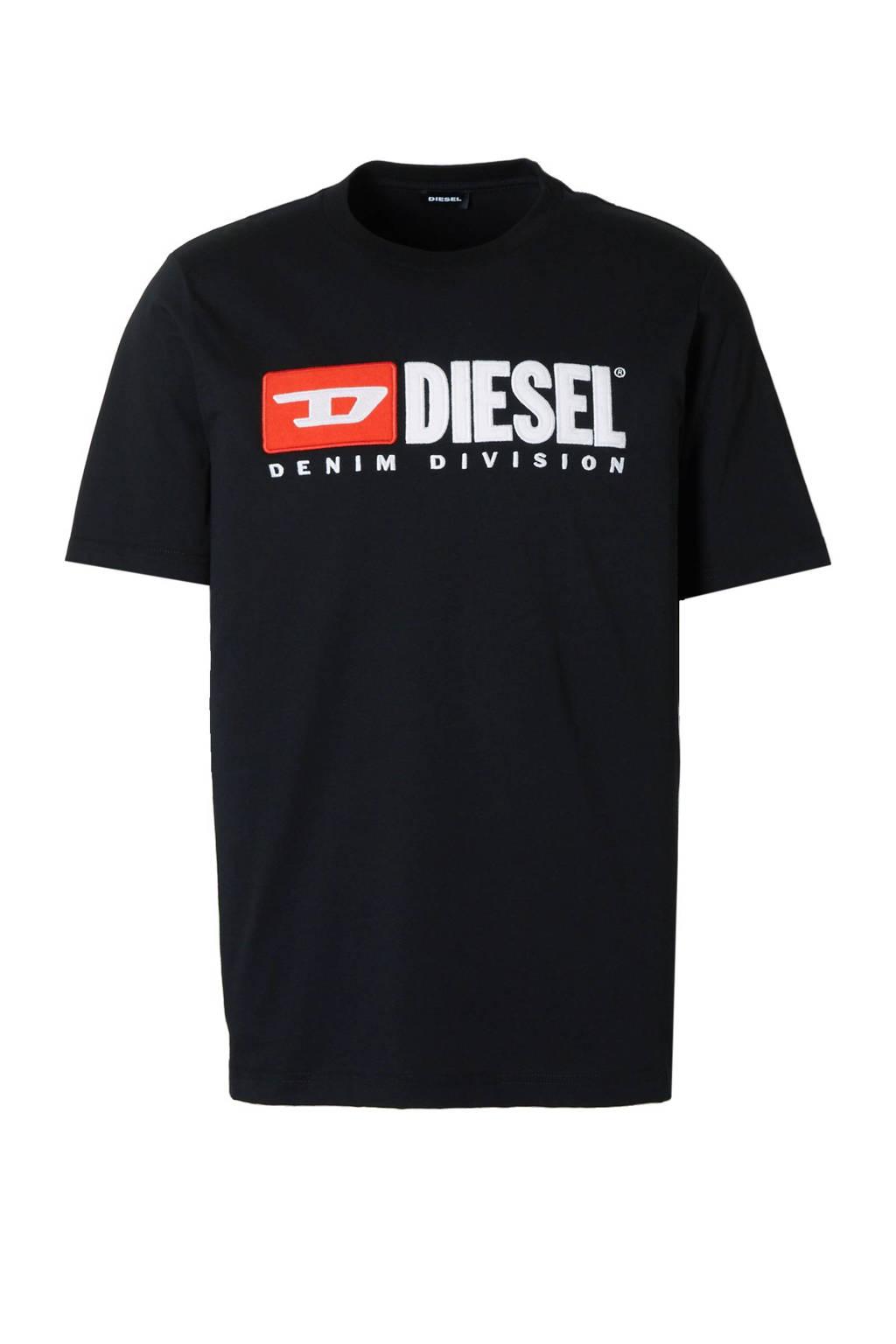 Diesel Just T-shirt, Zwart/rood/wit