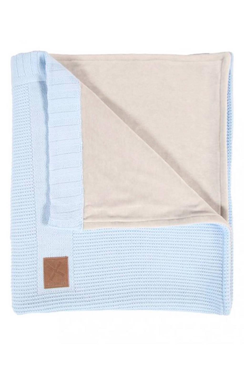 Kidsmill Knitted ledikantdeken 100x135 cm blauw, Blauw