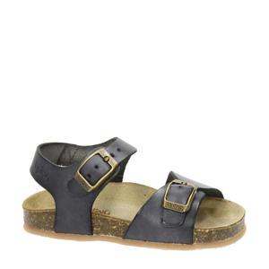 Easy 4  leren sandalen grijs