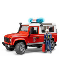Bruder  Land Rover brandweer station wagen, Rood