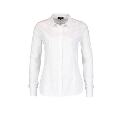 Claudia Sträter Slank gesneden poplin blouse in katoen