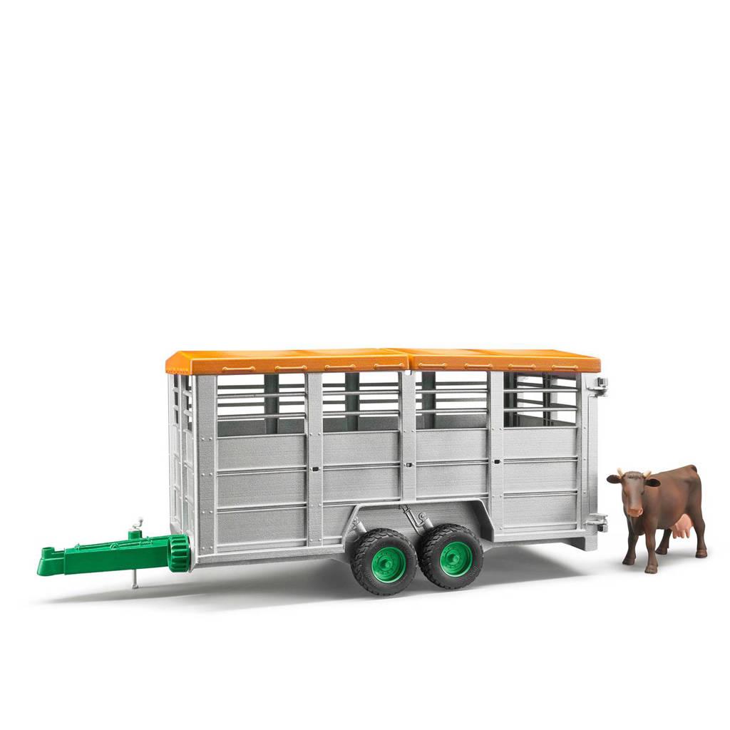 Bruder  vee trailer, Grijs