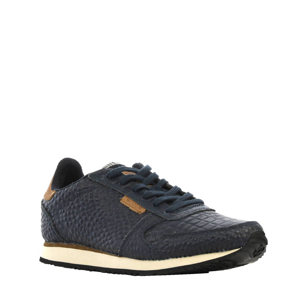 Woden   Ydun sneakers, Marine/cognac