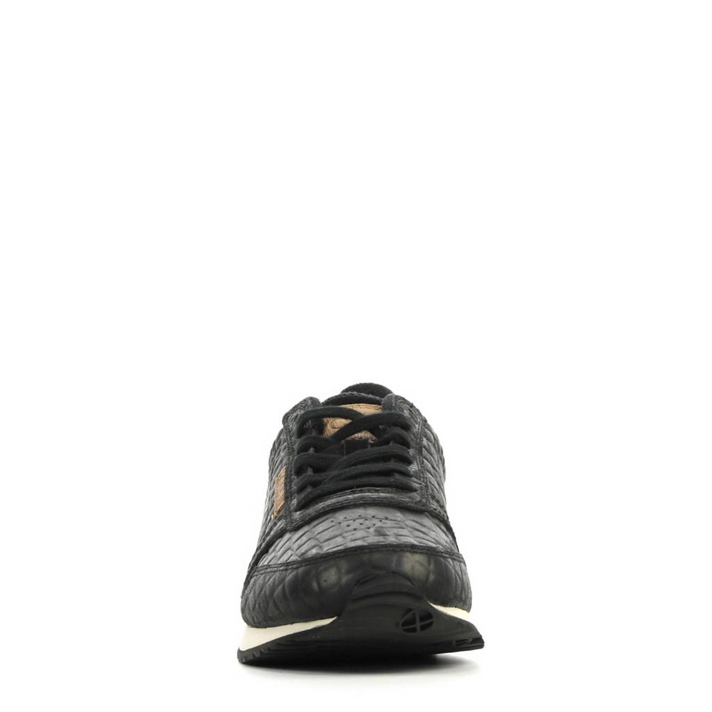 Woden Ydun sneakers, Zwart/cognac