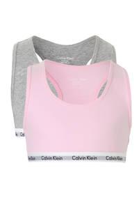 CALVIN KLEIN UNDERWEAR bh top - set van 2 roze/grijs melange, Roze/grijs melée