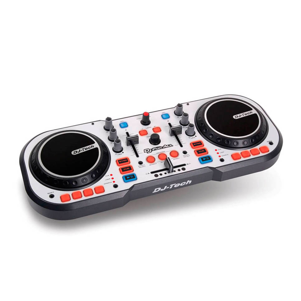 DJ Tech DJ For All DJ controller, Zilver/zwart