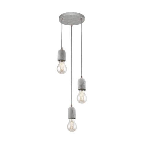 Eglo Silvares Hanglamp Beton 3 Lichtbronnen 25 cm