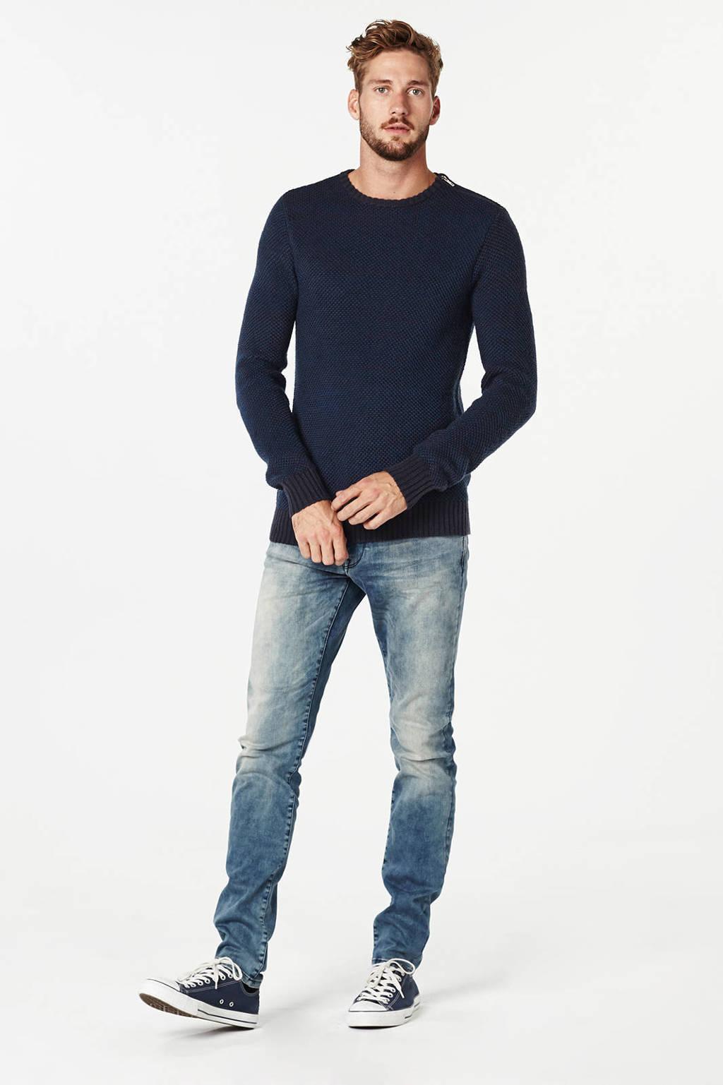 Petrol Industries slim fit jeans Seamham blauw, Medium blauw