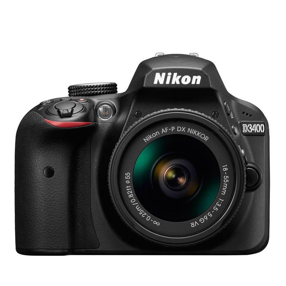 Nikon D3400 Kit AF-P 18-55mm VR  zwart spiegelreflex camera