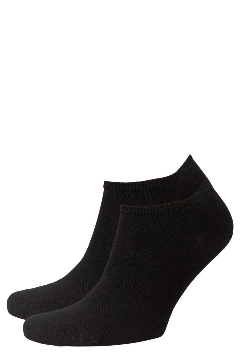 Tommy Hilfiger sneakersokken - set van 2 zwart, Zwart