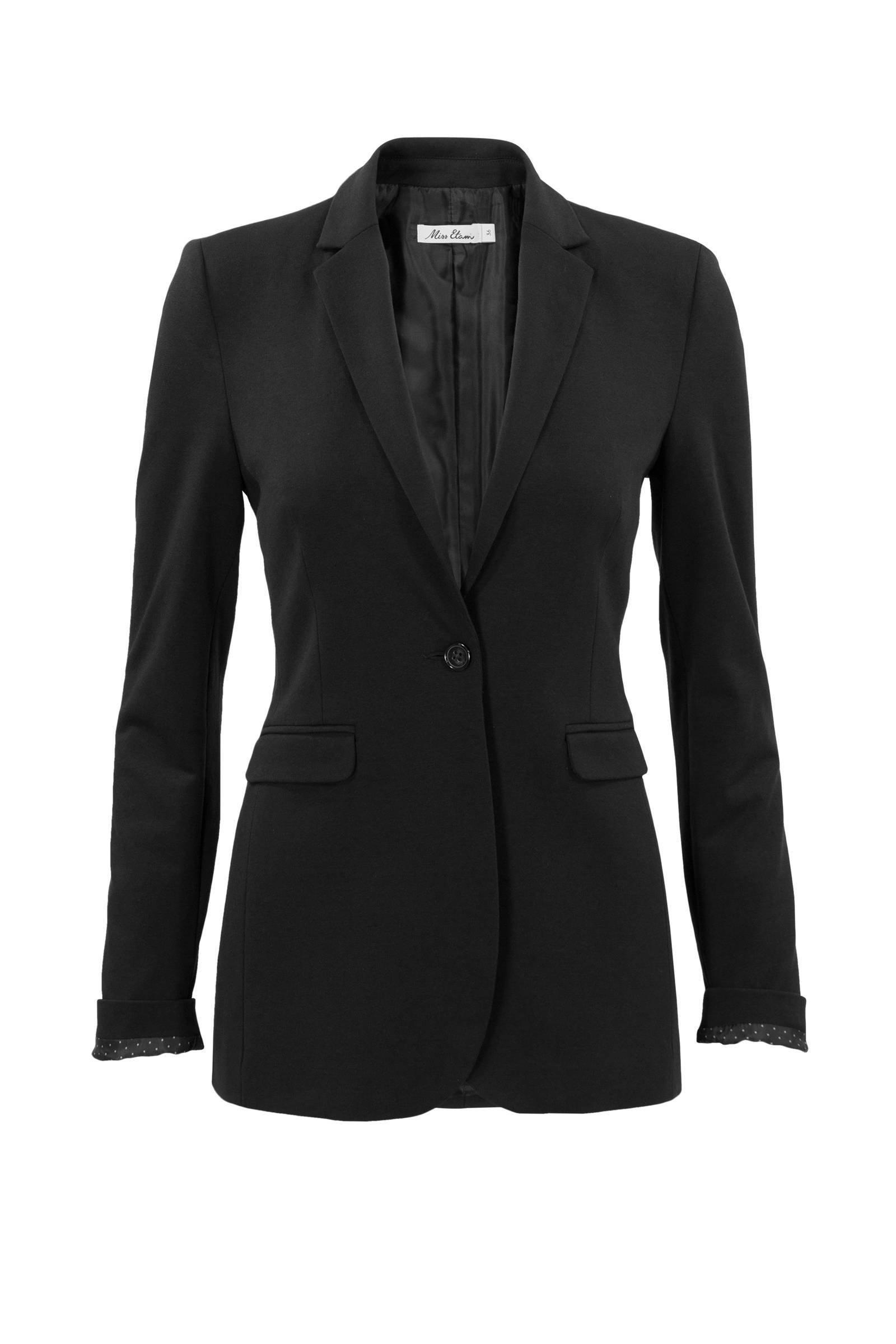 zwarte blazer dames miss etam