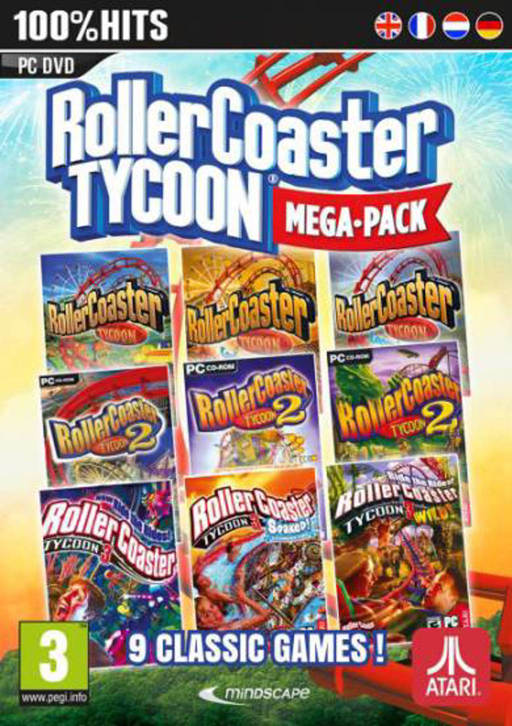 Rollercoaster tycoon (9 megapack) (PC)