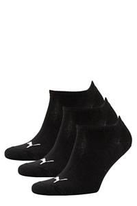 Puma sneakersokken - set van 3 zwart, Zwart