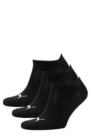 sneakersokken - set van 3 zwart