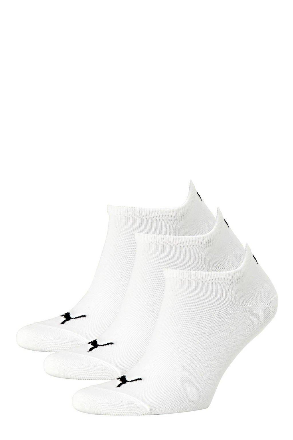 Puma   sneakersokken (set van 3), Wit
