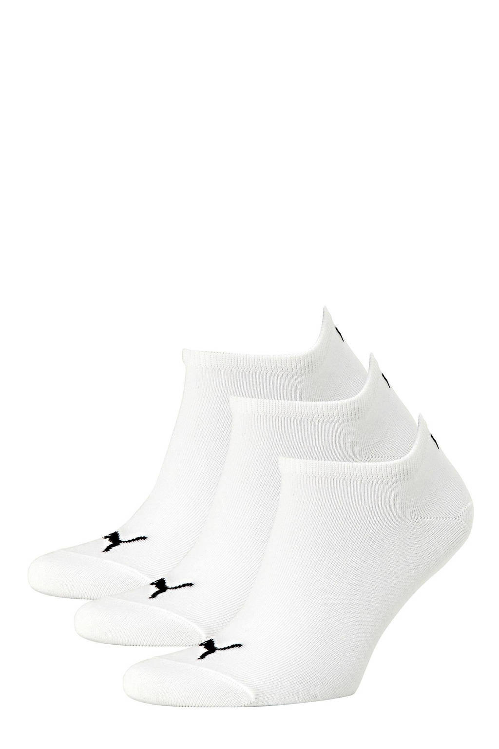 Puma   sneakersokken - set van 3 wit, Wit