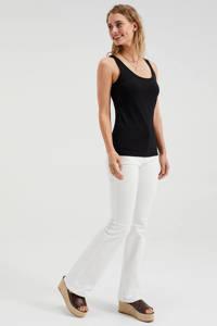 WE Fashion Fundamental singlet, Zwart