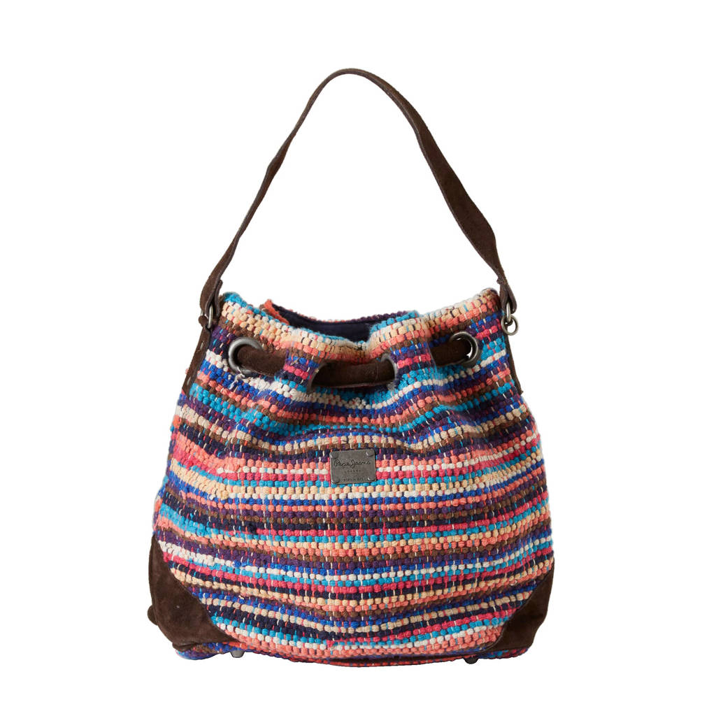 580822a992f Pepe Jeans strandtas, Bruin/wit/blauw