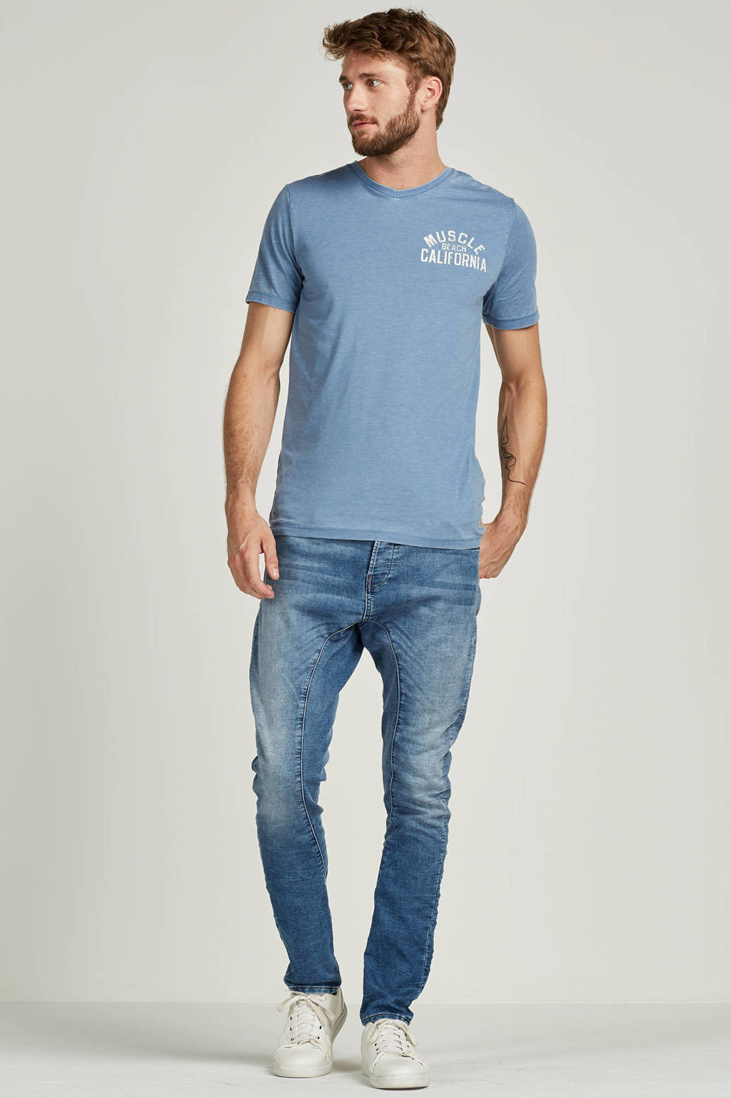 6344eaa28e Jack & Jones Vintage Muscle beach T-shirt, Lichtblauw