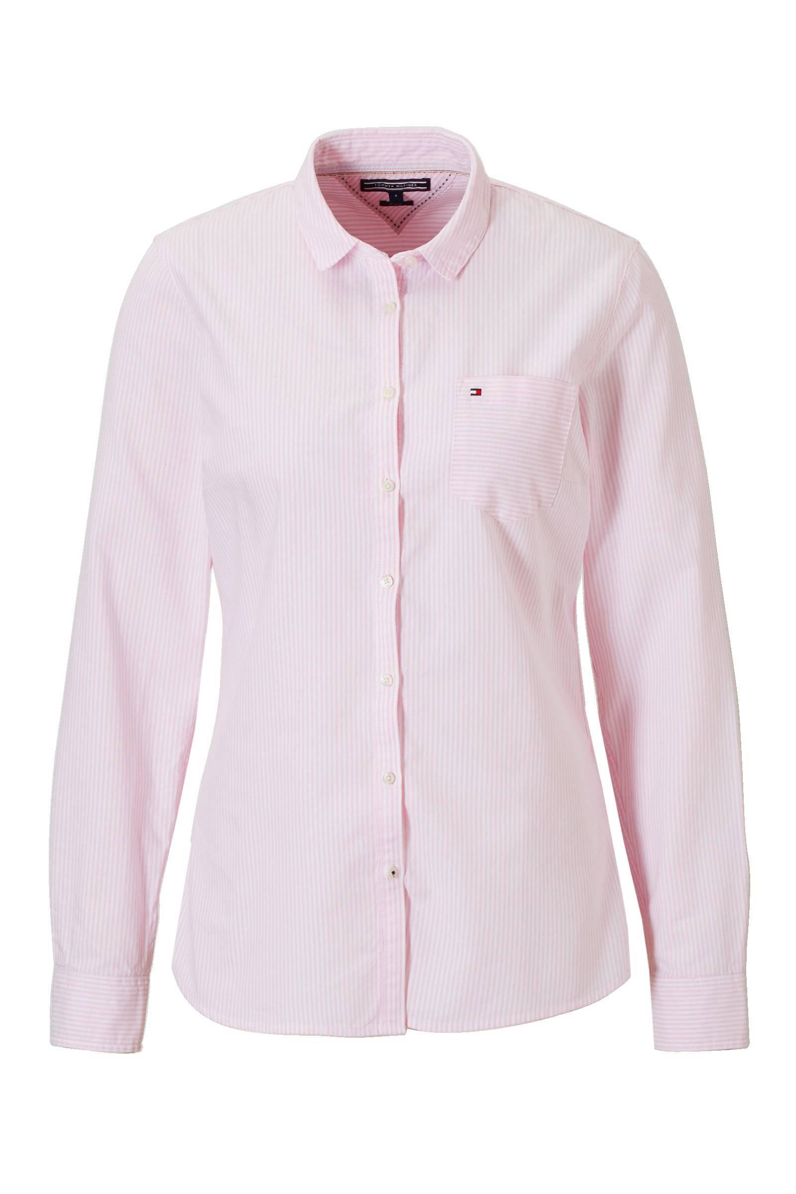 roze overhemd dames