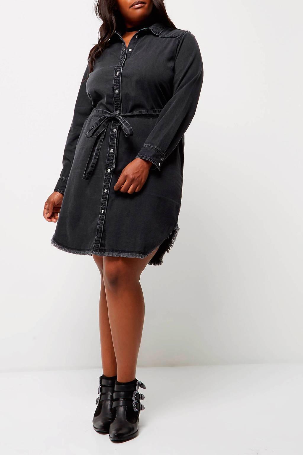 River Island Plus shirt dress, Zwart