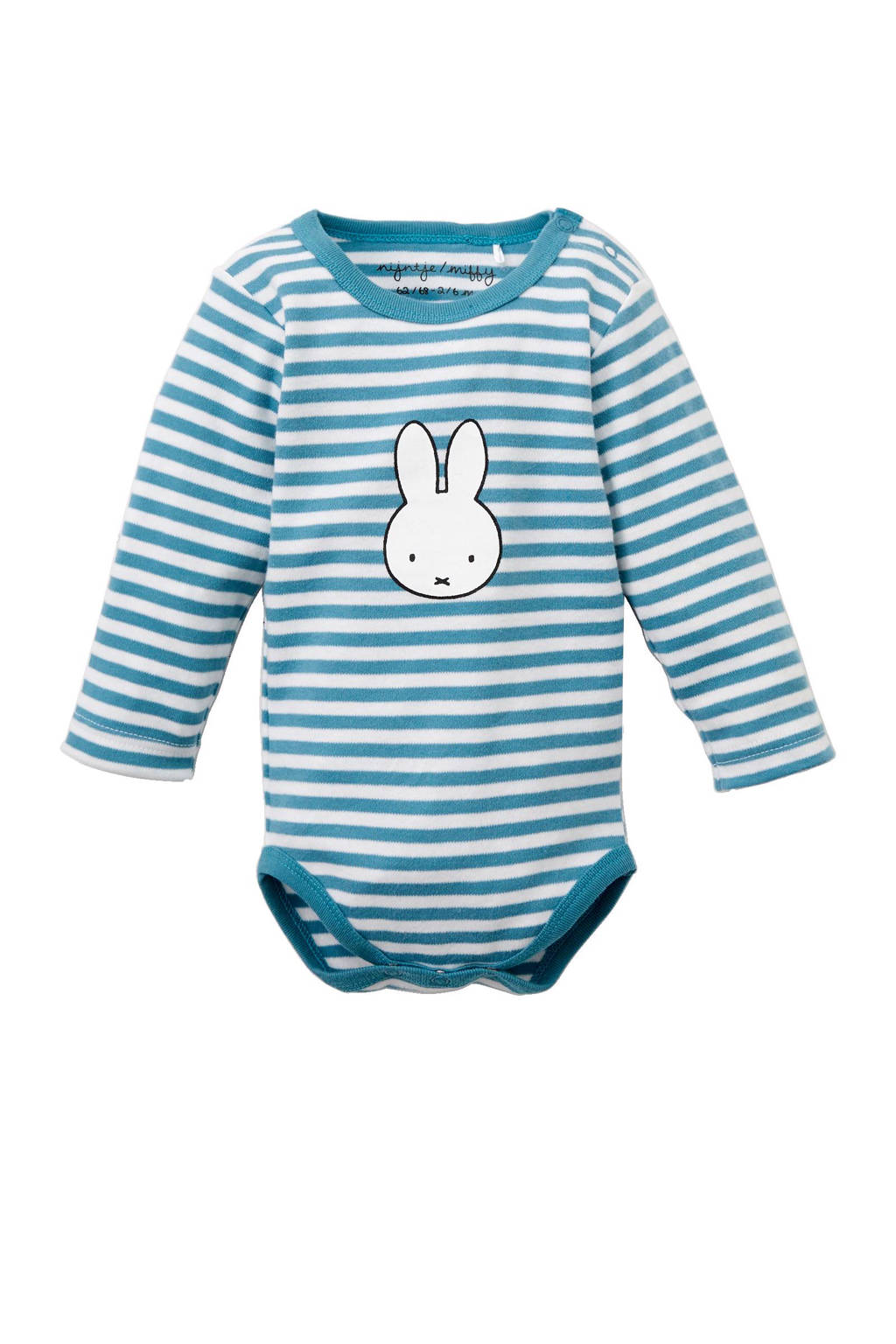 nijntje newborn baby romper, Blauw/wit