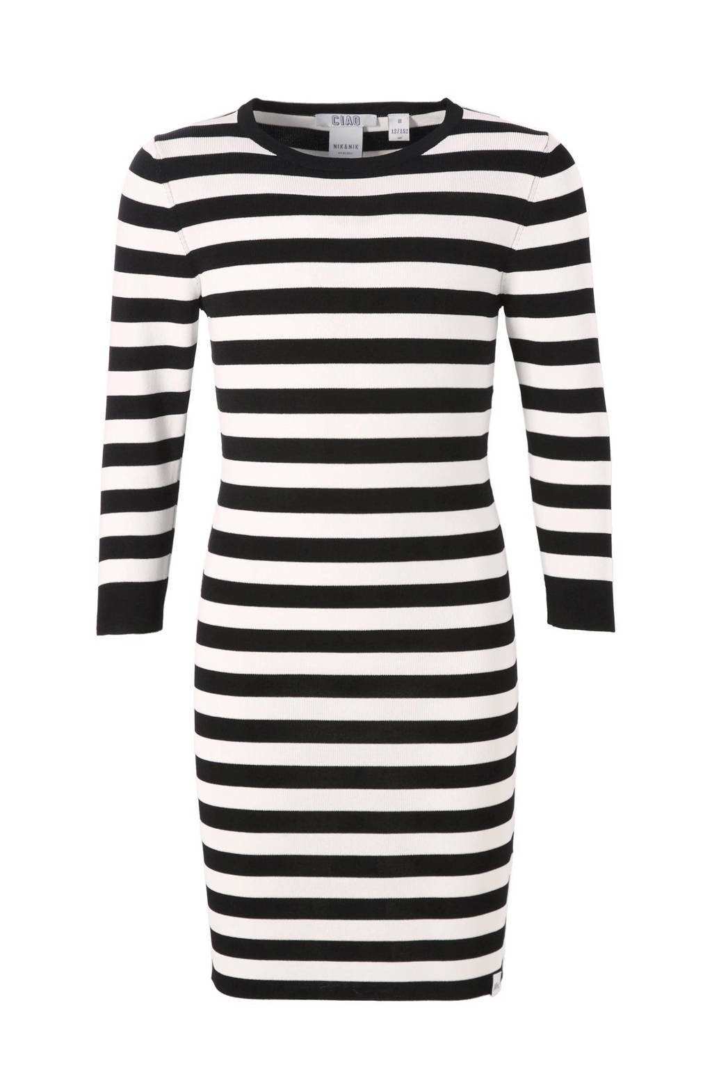 NIK&NIK jurk Jolie, Zwart/wit
