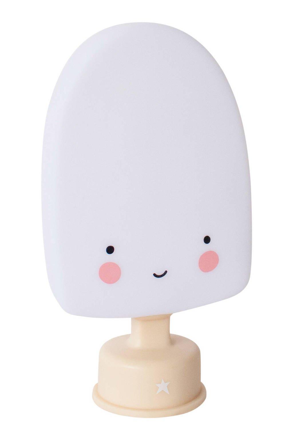 A Little Lovely Company mini ijslolly lamp, Wit/bruin