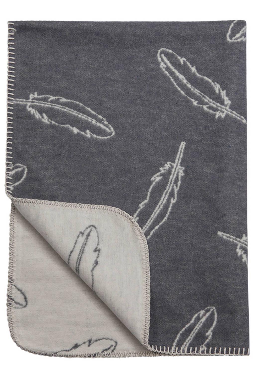 Meyco Feathers ledikantdeken 120x150 cm grijs, Grijs