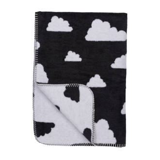 Little Clouds ledikantdeken 120x150 cm zwart
