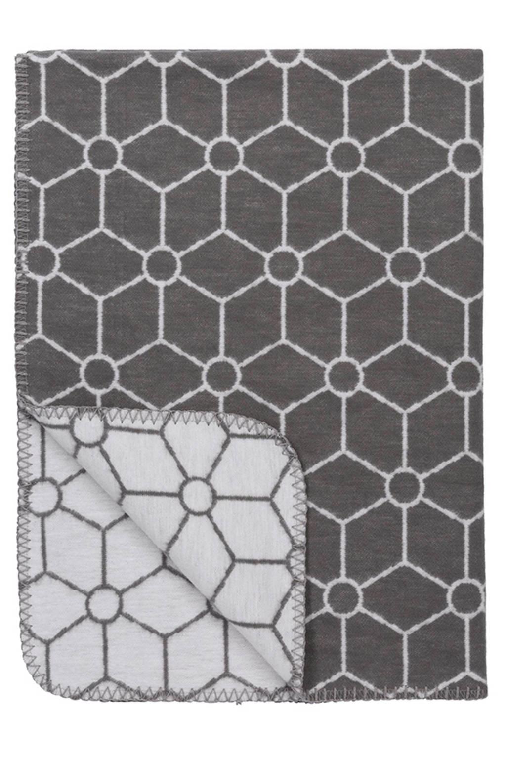 Meyco Honeycomb biologische ledikantdeken 120x150 cm grijs, Grijs