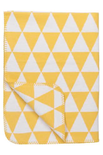 Triangle biologische ledikantdeken 120x150 cm geel