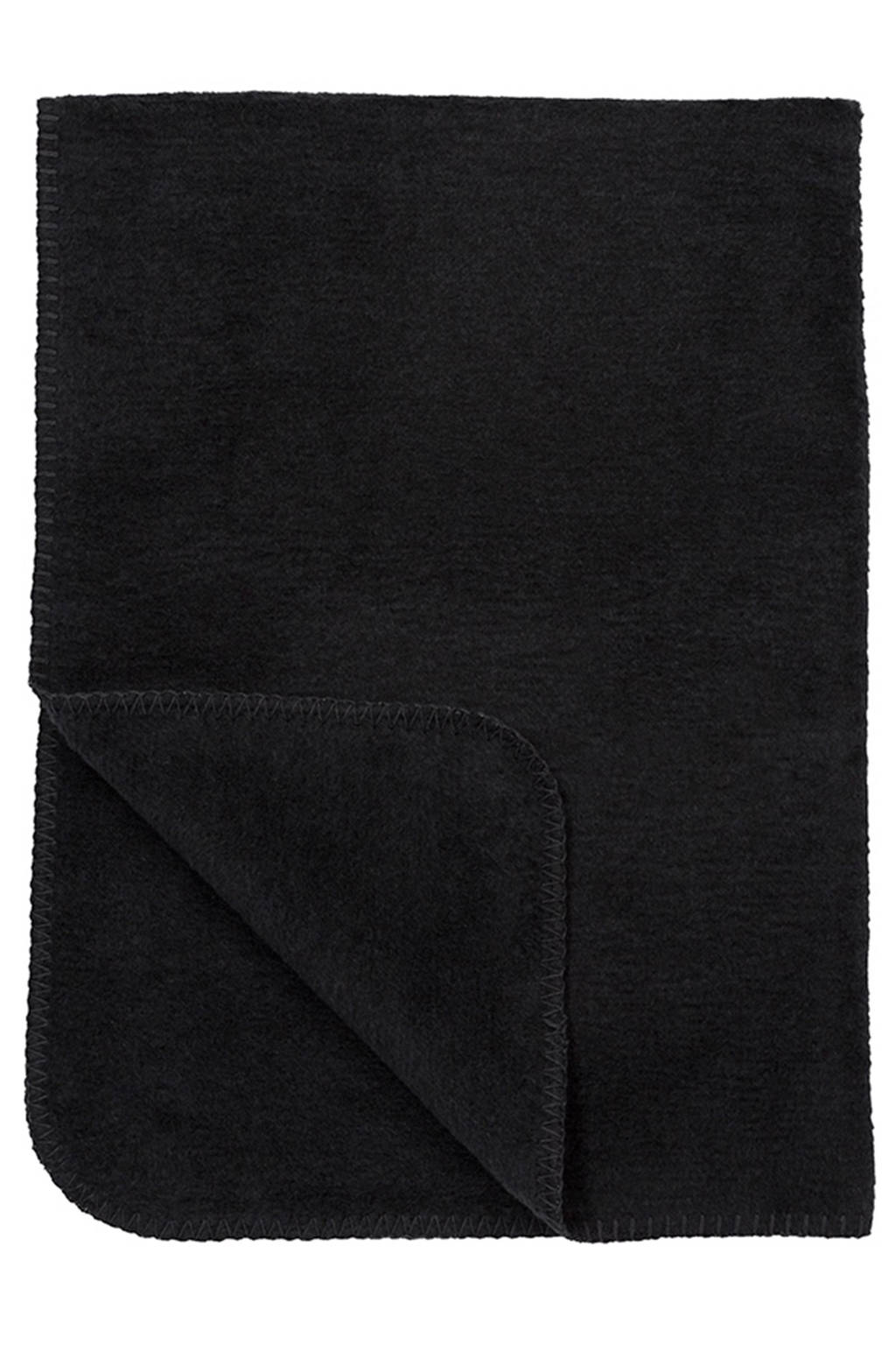 Meyco Uni ledikantdeken 100x150 cm zwart, Zwart