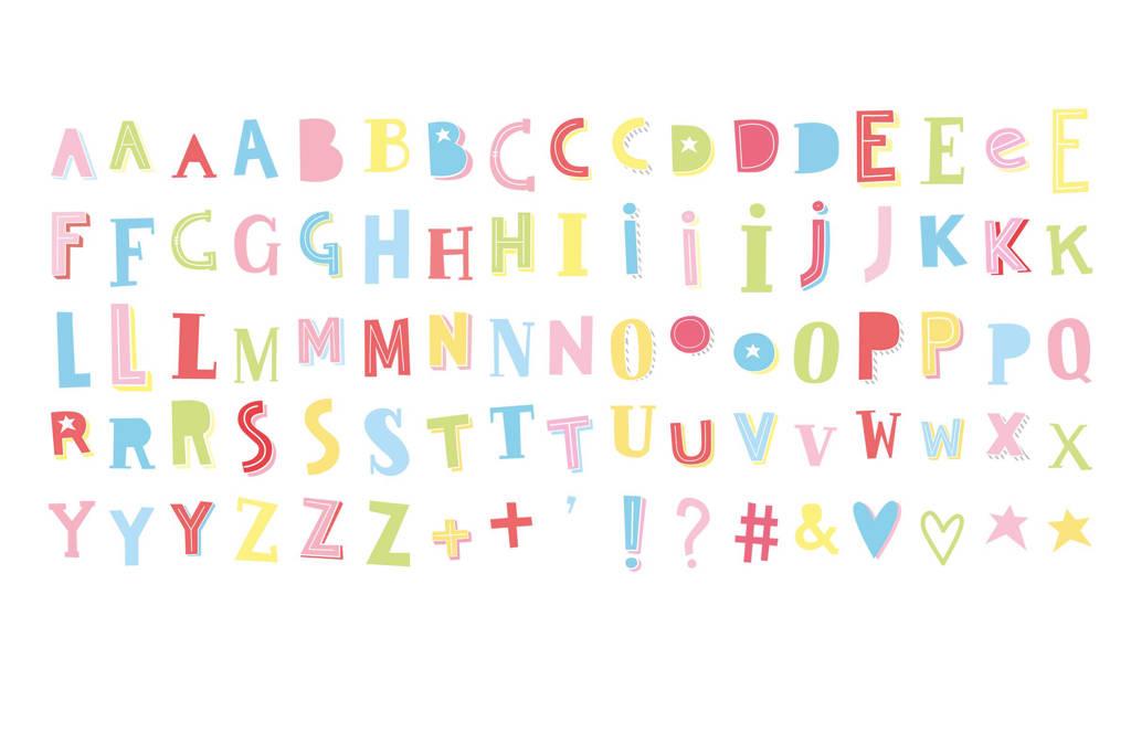 A Little Lovely Company lightbox letter set: funky colour, Multi